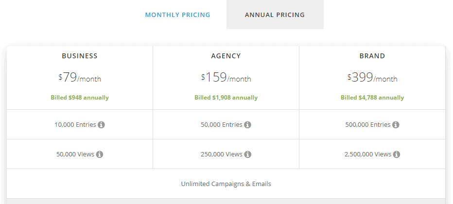 shortstack pricing