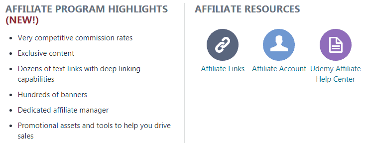Udemy affiliate program