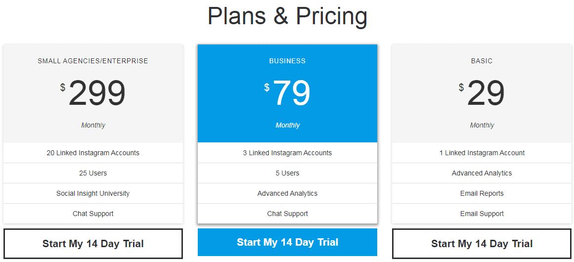 socialinsight pricing