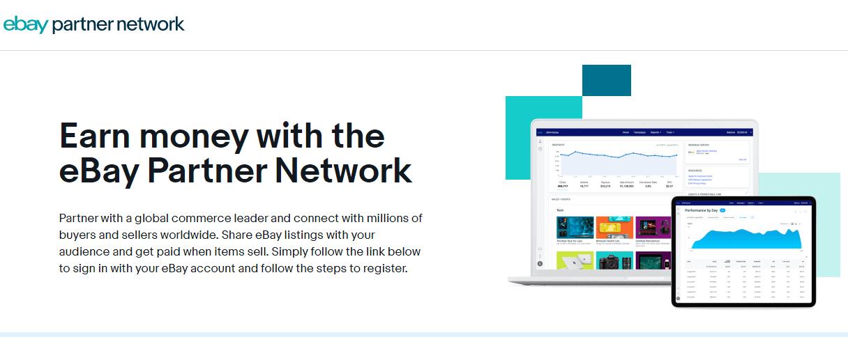 ebay partner network to earn money online
