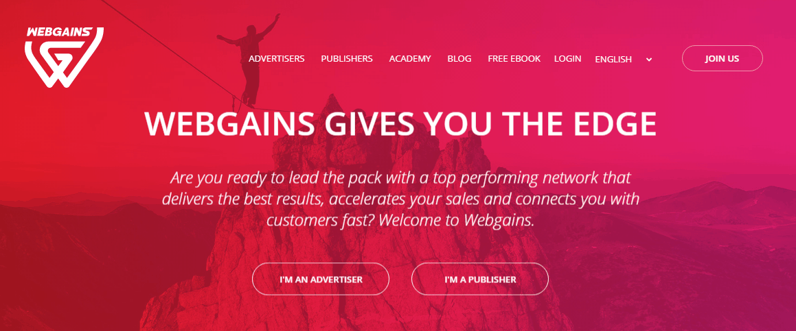 webgains-homepage