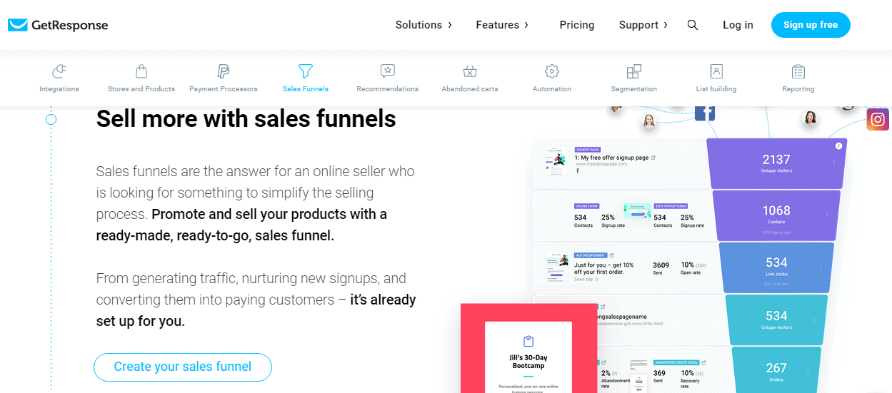 getresponse-best-sales-funnel-software