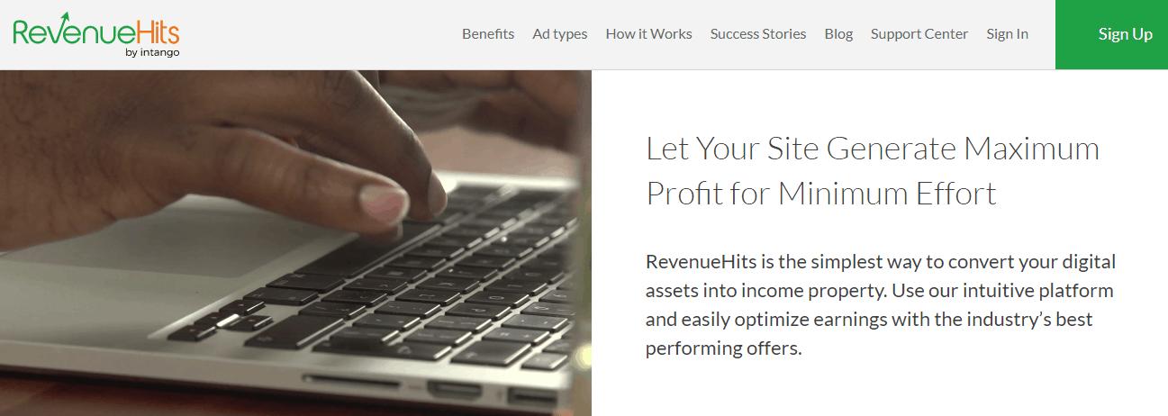 revenuehits-homepage