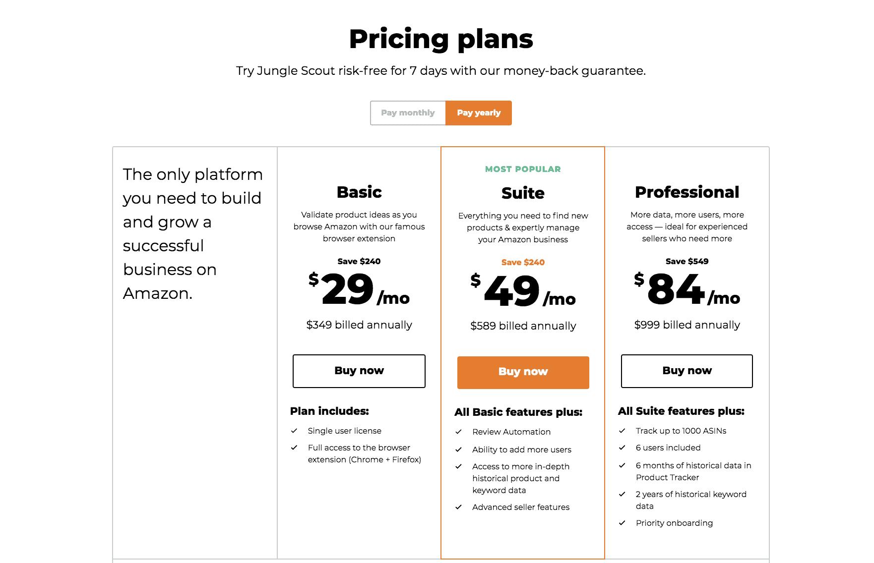 jungle-scout-pricing